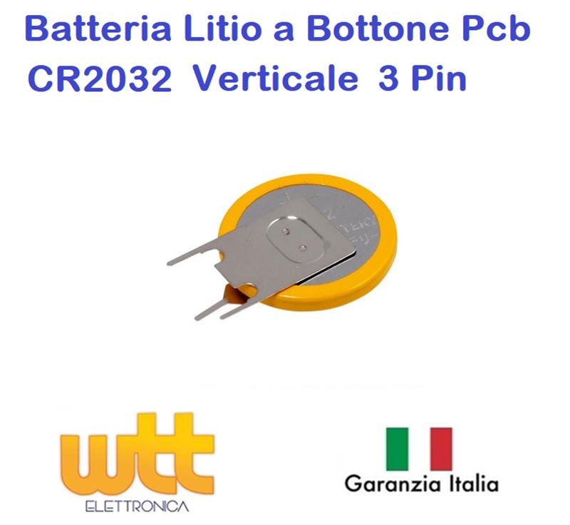 2PZ BATTERIA A BOTTONE CR2032 AL LITIO 3V BATTERIE PILA PIATTA BLISTER STANDARD